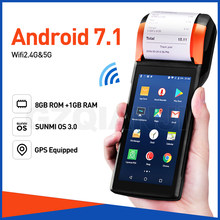 Sunmi V2 POS Android 7.1 PDA Handheld POS Terminal PDA 4G WiFi with Camera speaker Receipt Printer 58mm for mobile order market(China)