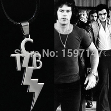 10pcs/lot TCB ELVIS PRESLEY Leather Chain Pendant Fashion Stainless Necklace