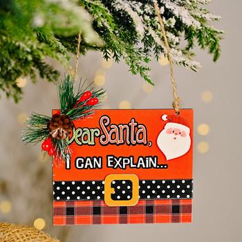 Ozdoby świąteczne z drewna ozdoby świąteczne z Santa Angel Snowman ozdoby na choinkę drewniane ozdoby do zawieszenia na boże narodzenie sprzyja dekory Prop tanie i dobre opinie CN (pochodzenie) AMERYKAŃSKI STYL Rectangle HZD210915382 Drewno drewniane