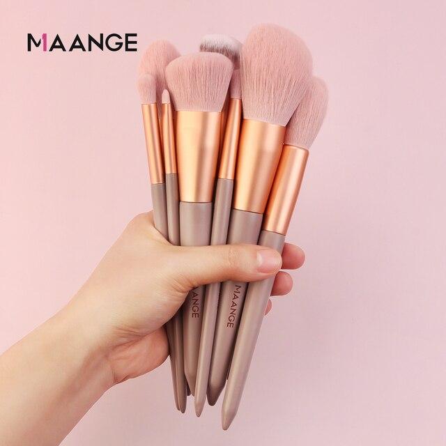 MAANGE Pro 4/13Pcs Makeup Brushes Set  Face Eye Shadow Foundation Powder Eyeliner Eyelash Lip Make Up Brush Beauty Tool with Bag 4