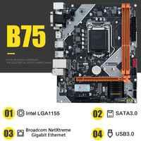 Frete grátis huananzhi mainboard b75 desktop placa-mãe lga1155 para i3 i5 i7 cpu suporte ddr3 memória