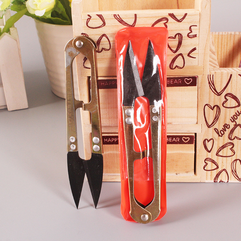 E189 Tailor Scissors Wire Cutter U-Shaped Small Scissors Connecter Scissors Dollar Store Supply Of Goods Binary Shop Purchase