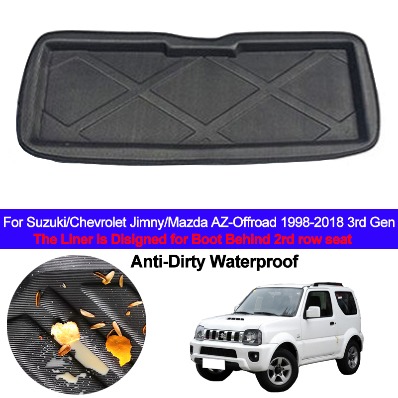 Car Rear Boot Cargo Liner Tray For Suzuki Chevrolet Jimny Mazda AZ-Offroad 1998 - 2018 Trunk Luggage Floor Mats Carpets Pad Rug