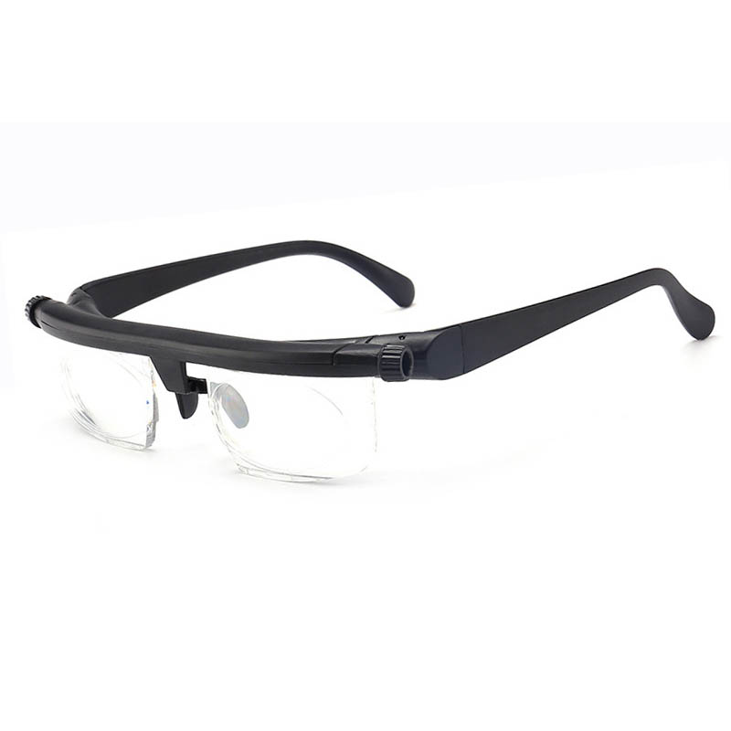 -600 +300 Myopia Hyperopia Reading Glasses dual-use focal length adjustable reading glasses trimming - 6d + 3D original box image