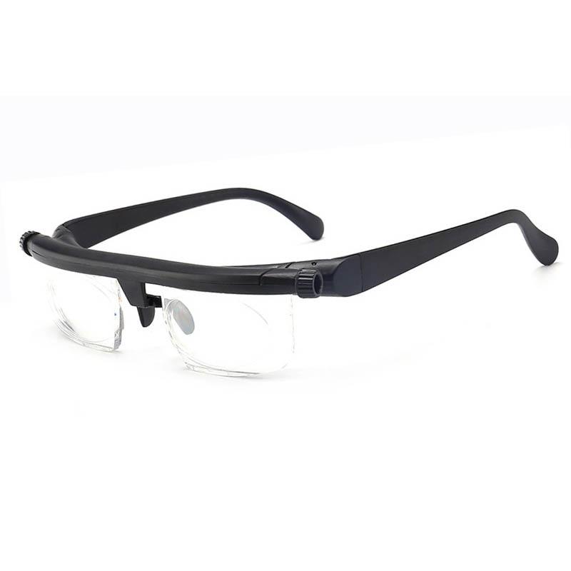 -600 +300 Myopia Hyperopia Reading Glasses dual-use focal length adjustable reading glasses trimming - 6d + 3D original box