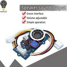 Acessórios pequenos do orador do módulo da saída sadia do orador do orador do grove com ajustável para arduino