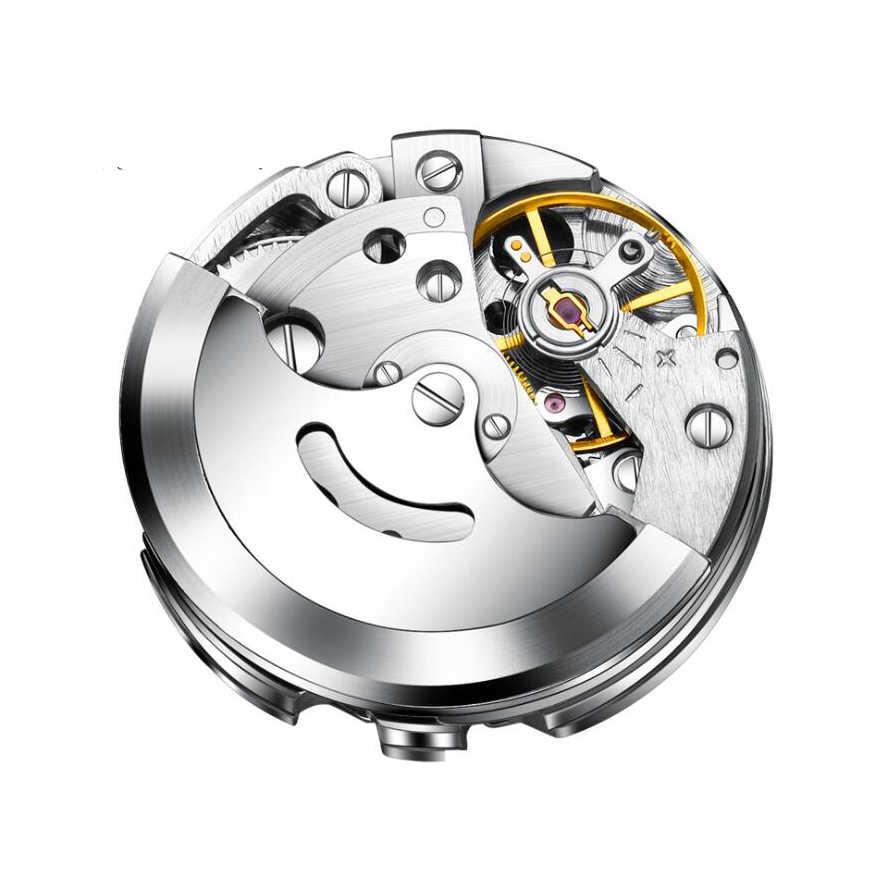 Automatische Zelf Wind Mannen Horloge Rvs Transparant Cover Case Water Proof Auto Horloge Mannen