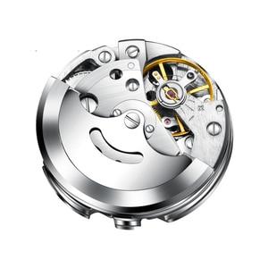 Image 4 - Hommes montres automatique 3 ans de garantie horloges mouvement automatique femmes montre bracelet mécanique