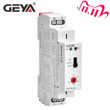GEYA Interruptor de iluminación para escaleras, GRT8 LS Din, temporizador, 230VAC, 16A, 0,5 20 minutos de retardo