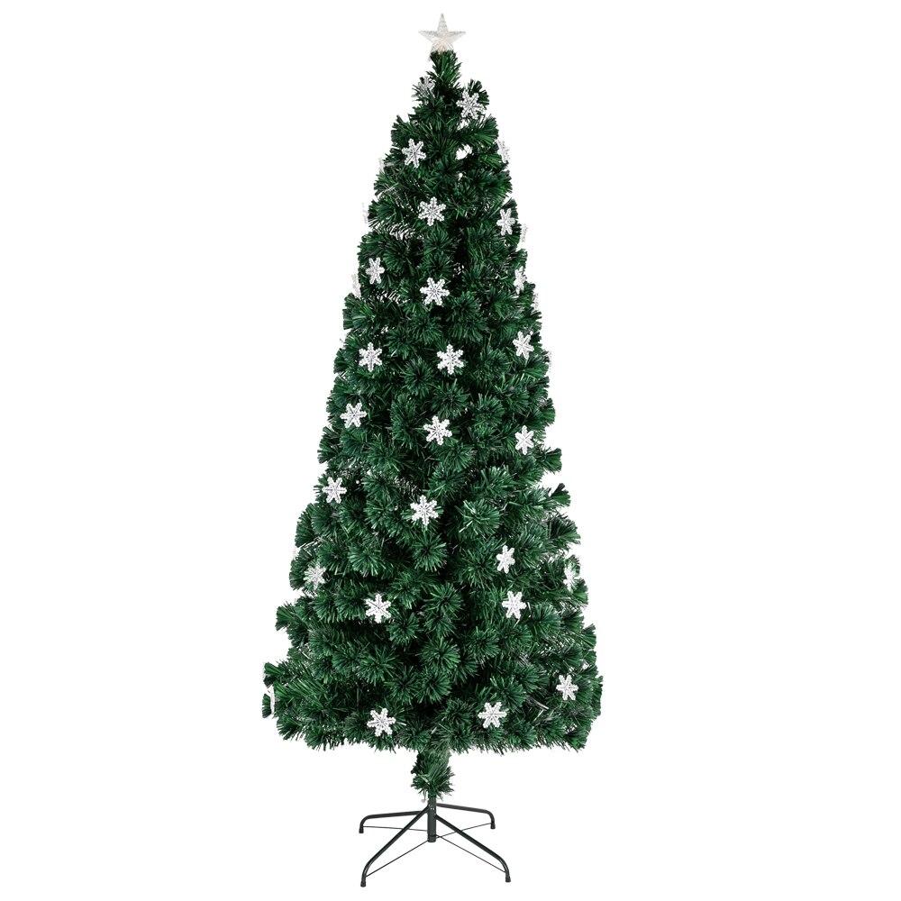 Small Light Fiber Optic Christmas Tree Christmas Decoration 290 Branches 7 Feet