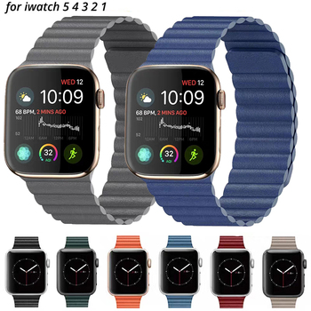UTHAI B13 Leather loop strap For apple watch band watchbands 42mm 38mm iWatch series 5 4 3 2 1 44mm 40mm
