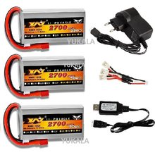 YUKALA 1-3pcs 7.4V 2700mAh RC Lipo Upgrade Battery 40C Max 60C with charger for Wltoys 12428 12423 RC Car 03 Q39 parts Battery(China)