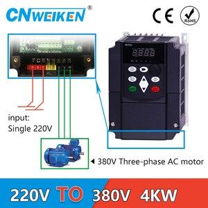 Image 1 - 4kw VFD step up convertitore di tensione inverter 220v a 380v singola fase 220V convertitore di tre fasi 380v AC trasformatore di potenza