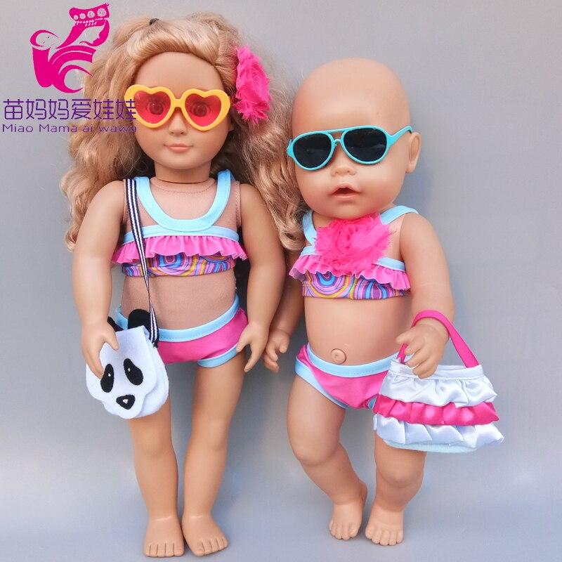 45 cm baby doll swimming clothes beach dress 18 inch american og girl doll summer bikini