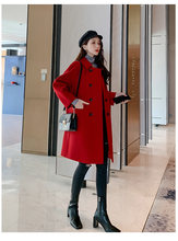 coat women Wool blend Overcoat Plus Size Ladies Casual Slim Thick Outwear Autumn Winter Slim Long Tweed Woolen woman coats S0236(China)