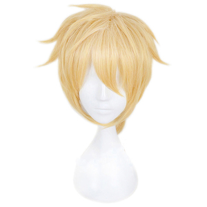 Image 2 - Anime Kagamine Rin / Kagamine Len Cosplay Kostüm Perücke Kurze Blonde Gelb Synthetische Haar Halloween Karneval Perücken