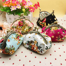 Vogvigo Women Lady Retro Vintage Flower Small Wallet Hasp Printing Floral Clutch Bag Good Gift Coin Purse Storage Bag Organizer brand new lovely women lady retro vintage owl print small wallet hasp purse clutch bag hasp coin purses small