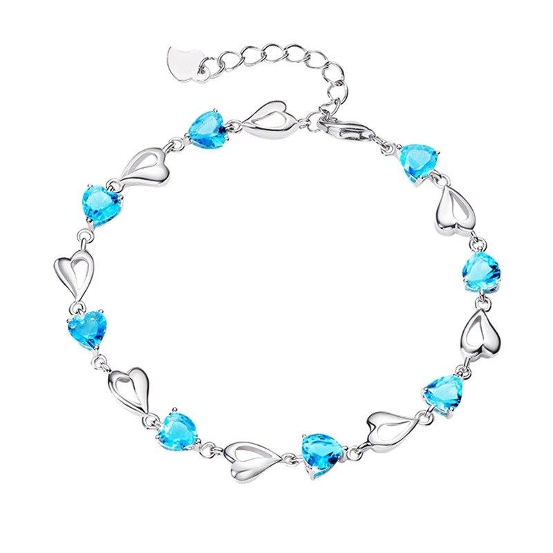bracelet aigue marine argent 925