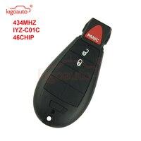 Kigoauto #0 Fobik key 434Mhz 크라이슬러 용 IYZ-C01C 2008 2009 2010 2011 2012 Town & Country 300