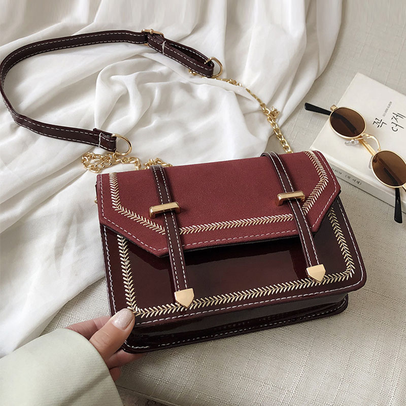 New Desiger Fashion Women's Bags Korean StyleLeather Casual Double Belt Buckle Small Square Crossbody  Shoulder Bag Women