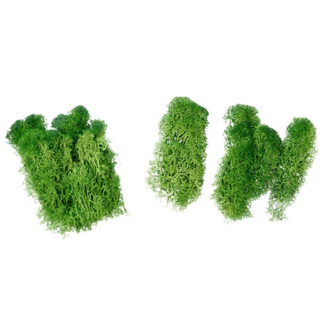 Artificial Moss Simulation Grass Bryophyte Bonsai Garden DIY Landscape Decor Emerald/ Light Green