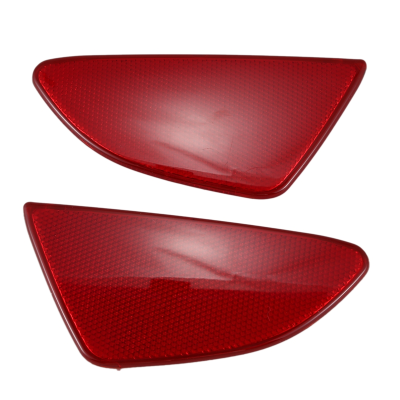 Car Styling ABS Plastic Rear Tail Fog Light Lamp Reflector Panel Set for Mazda 2 Demio 2015-2018