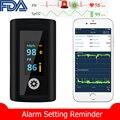 Управление по санитарному надзору за качеством пищевых продуктов и медикаментов медицинский палец Пульсоксиметр Bluetooth данные оповещения к...