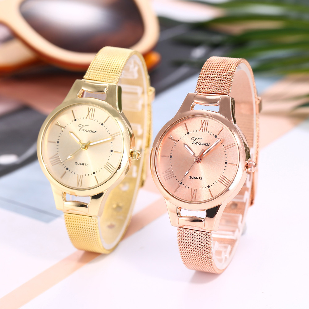 Casual Quartz Stainless Steel Band Newv Strap Watch Analog Wrist Watch Relogio Masculino Luxury Women Rose Gold Hot 2019 Gold