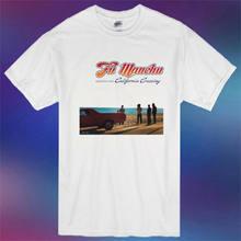 Novo fu manchu seleções da califórnia crossing masculino branco t camisa tamanho s 3xl