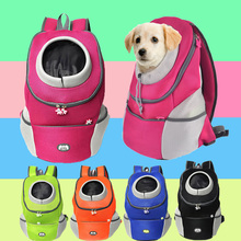 Outdoor Pet Front Backpack Carrier Travel Bag Breathable Mesh Pet Double Shoulder Backpack Carrying Shoulder Pack Puppy outdoor pets cat dog front backpack carrier travel bag bleathable mesh pet double shoulder backpack carrying shoulder pack puppy