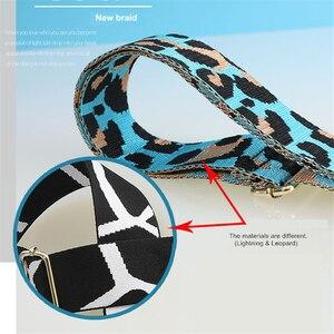 Image 4 - 조정 가능한 가방 어깨 끈 PU 넓은 어깨 가방 스트랩 교체 스트랩 가방 벨트 표범 인쇄 스트랩 가방에 대 한 correa bolso