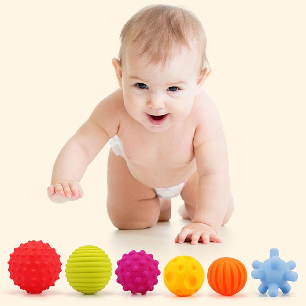 6 uds. Bolas de bebé con textura múltiple, tacto sensorial, juguete educativo para baño con sonido BB Lámpara colgante de bola de cristal nórdico para comedor, restaurante, dormitorio, decoración del hogar, iluminación de cocina
