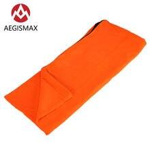 Спальный мешок aegismax для одного человека флисовый отдыха