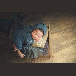 Новинка, детская шапочка + повязки, реквизит для фотосъемки новорожденных девочек и мальчиков, комбинезон + шапки, реквизит для фотосъемки, о...