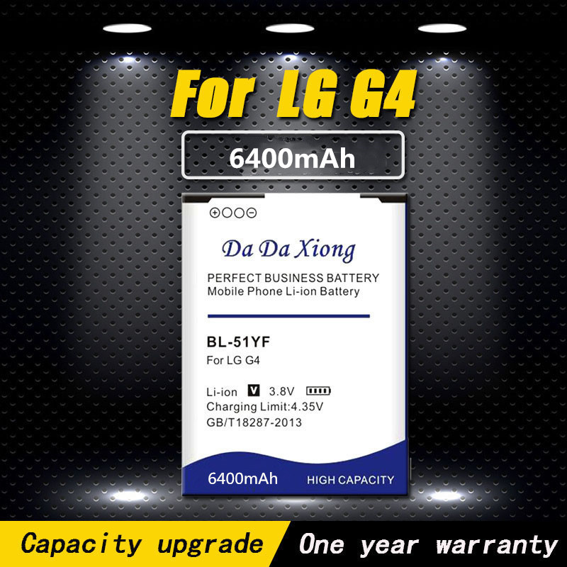 High Quality 6400mAh BL-51YF / BL-51YH Battery For LG G4 H815 H818 H819 VS999 F500 F500S F500K F500L H811 V32 Phone Battery