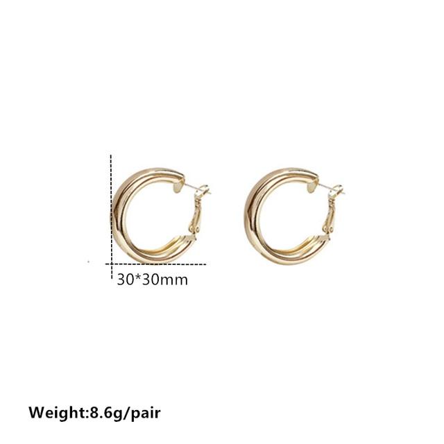 Minimalist Brand Hoop Circle Earring Woman 2020 New Vintage Gold Color korean Scrub Statement Big Earrings Accessories brincos 6