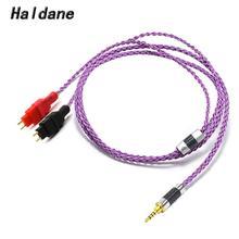 Haldane HIFI 8 ядер x19x0.08mm посеребренные Наушники Замена кабель обновления для HD600 HD650 HD525 HD545 HD565 HD580 HD6XX