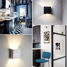 6W Dimmable LED Indoor Lighting led Wall Lamp Modern Home Lighting Decoration WALL Sconce Aluminum Wall LIGHTS AC85-265V NR-180 cob led indoor lighting wall lamp modern home lighting decoration sconce aluminum lamp 6w 85 265v for bath corridor