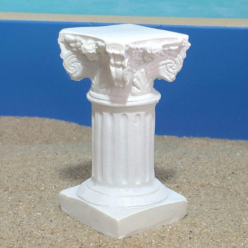 Classical Architecture Resin Roman Column Statue Garden Decoration Shooting Set Scene Miniature Ornaments Handicraft Props