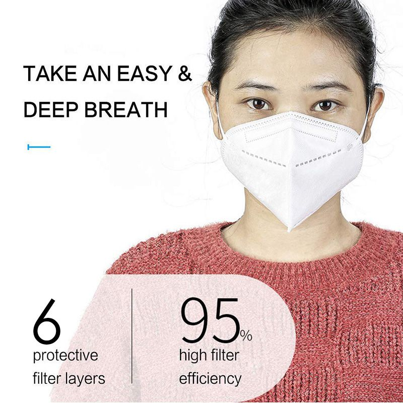 1/5 /10PCS/lot Kn95 Face Mask Folding Advanced Protection Antibacterial Haze Windproof Dust Masks Y