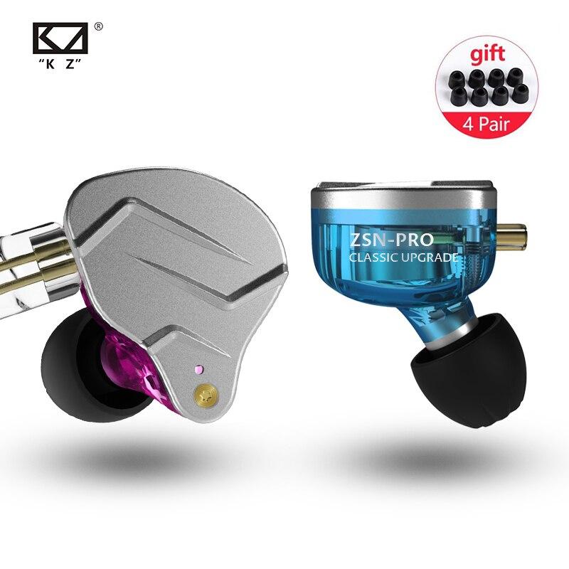 KZ ZSN PRO 1BA 1DD Hybrid In Ear Earphone HIFI DJ Monito Running Sport Earphone Earbud KZ ZS10 PRO AS10 KZ ZSX KZ ZSN PRO AS06