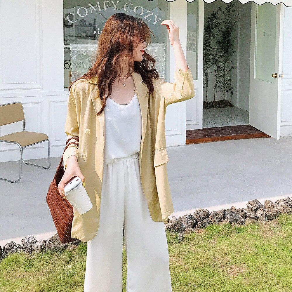 Black Blazer Autumn Waist Belt 2019 New Women's Fashion Design Sense Leisure Suit Jacket Female Long Plus Size Outwear Suit