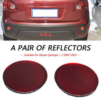 1 para reflektor tylnego zderzaka wymiana ostrzeżenie odblaskowe naklejki akcesoria samochodowe dla Nissan Qashqai Qashqai 2 2007-2015 tanie i dobre opinie VODOOL CN (pochodzenie) odblaskowe paski Automotive Accessories Automotive Goods