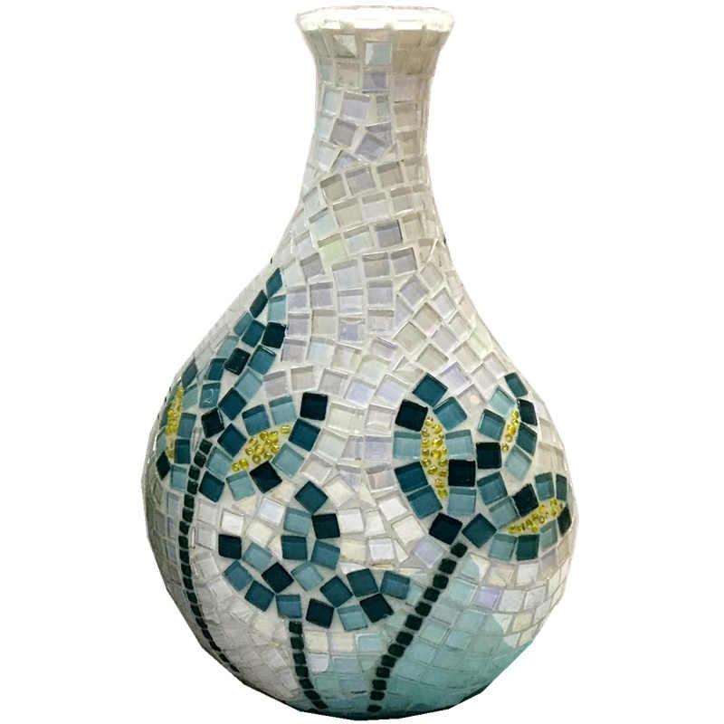 300 unids/pack mosaico de vidrio de cristal bricolaje aficiones de la creatividad arte Materia hecho a mano creativo para niños Mini azulejos de mosaico Material