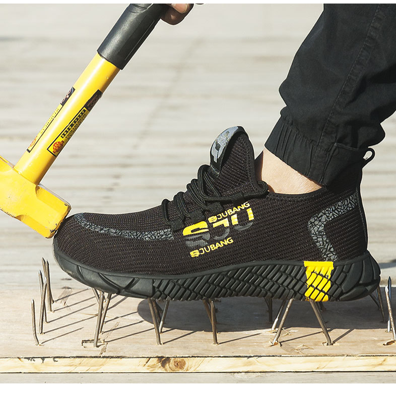 Men Work Boots Sneakers Industrial-Shoes Toe-Work Puncture-Proof Comfortable Men's Casua Safety-Shoes Lace-Up Desert-Combat