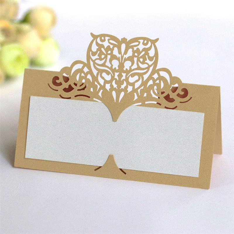 50pcs Love Hollowed Out Name Seat Card Delicate Vintage Paper Place Card Creative Table Name Seat Card for Wedding Party