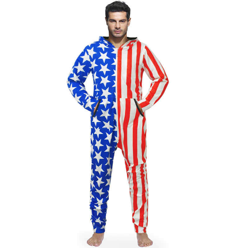 Мужская зимняя осенняя и зимняя новая стильная Свободная Домашняя одежда со звездами и полосками с рисунком национального флага с
