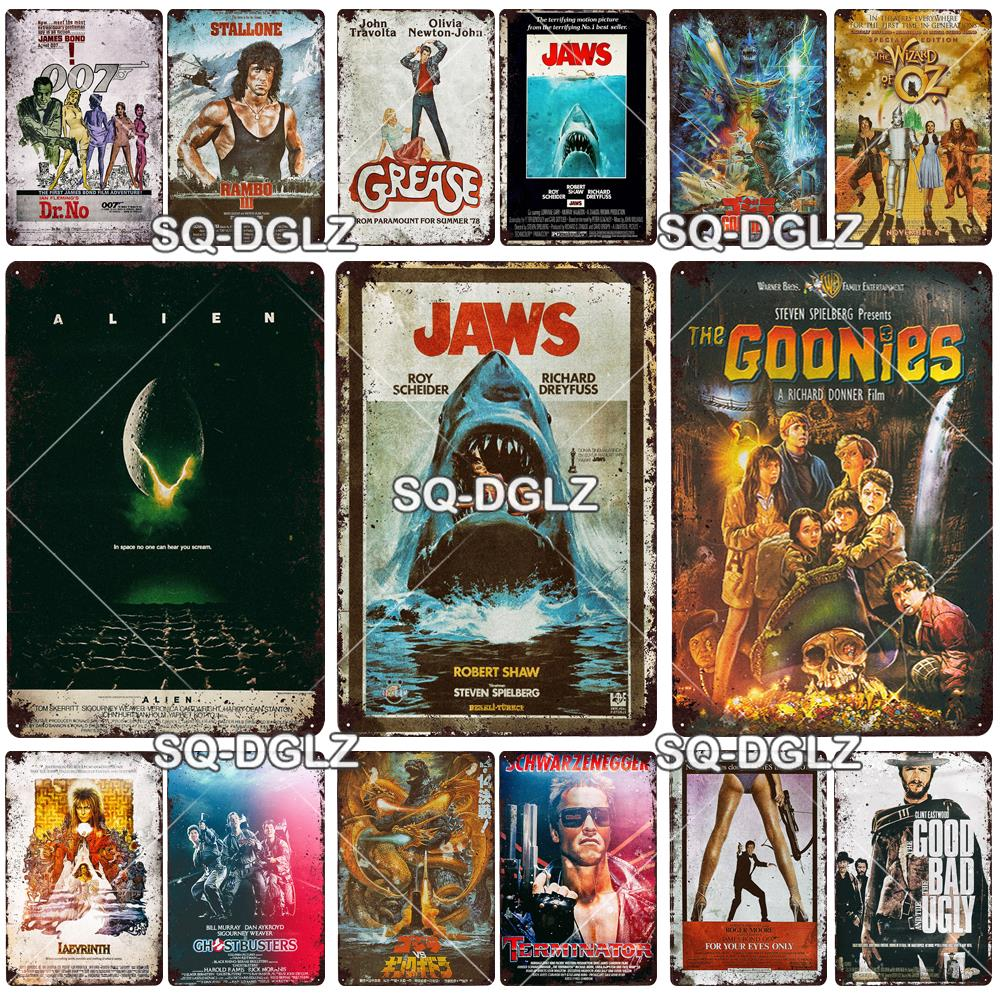 JAWS  FILM MOVIE  METAL TIN SIGN POSTER WALL PLAQUE
