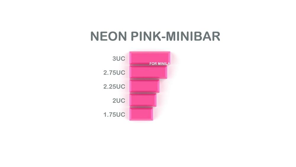 013-CYBERPUNK PUMPER Spacebar Neon Pink Minibar