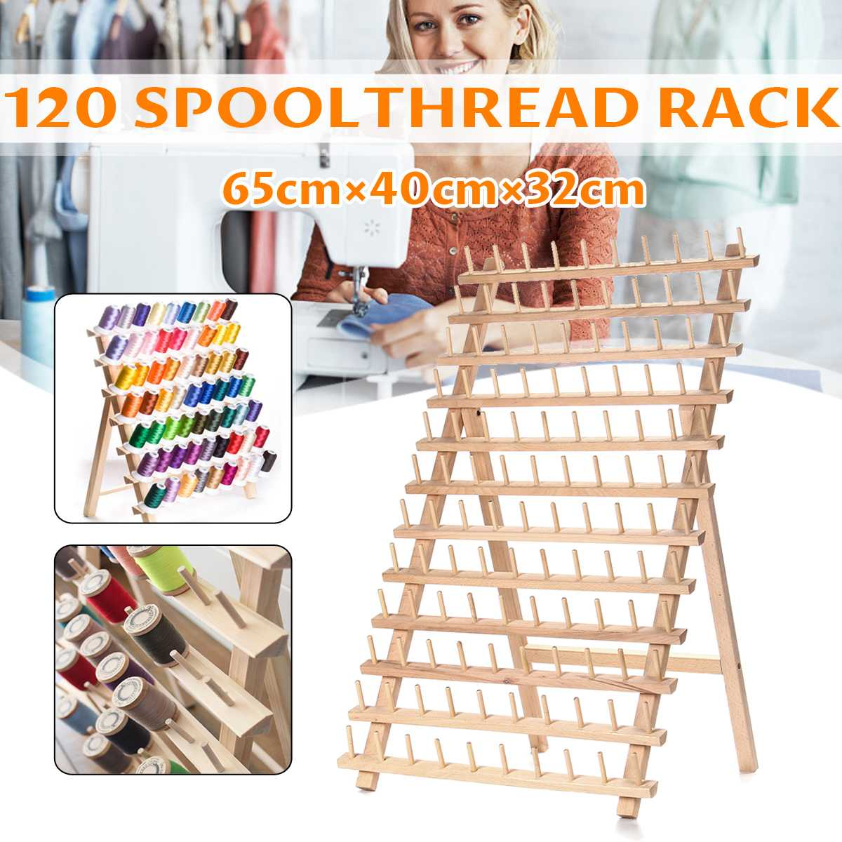 120 Axes Frame Folding Spool Storage Rack Sewing Thread Bobbin Storage Rack Can Be Placed On The Table Or Hanging On The Wall